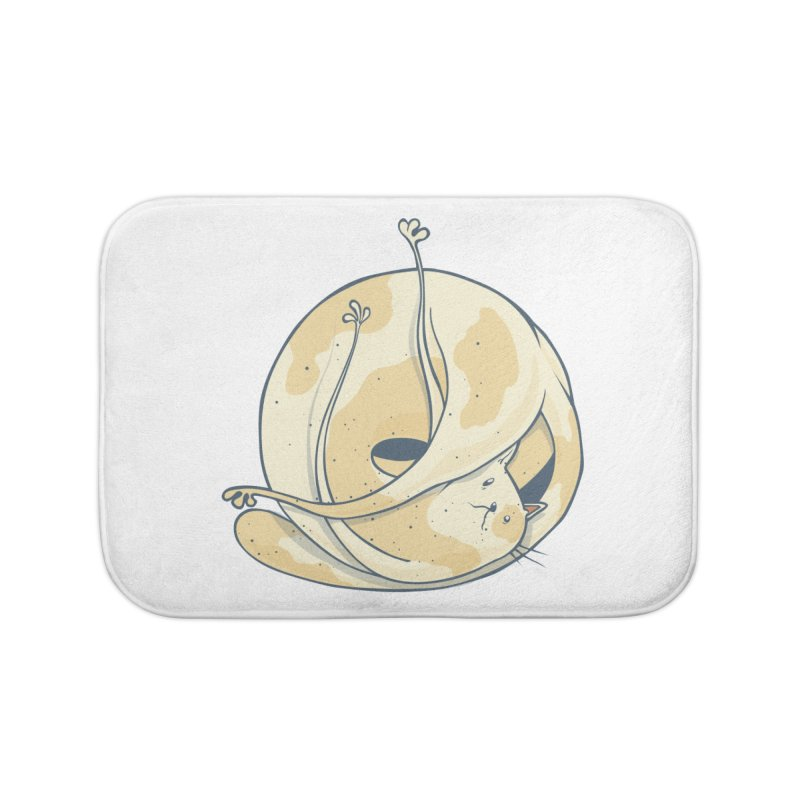 Ball of cat Home Bath Mat by Magnus Blomster
