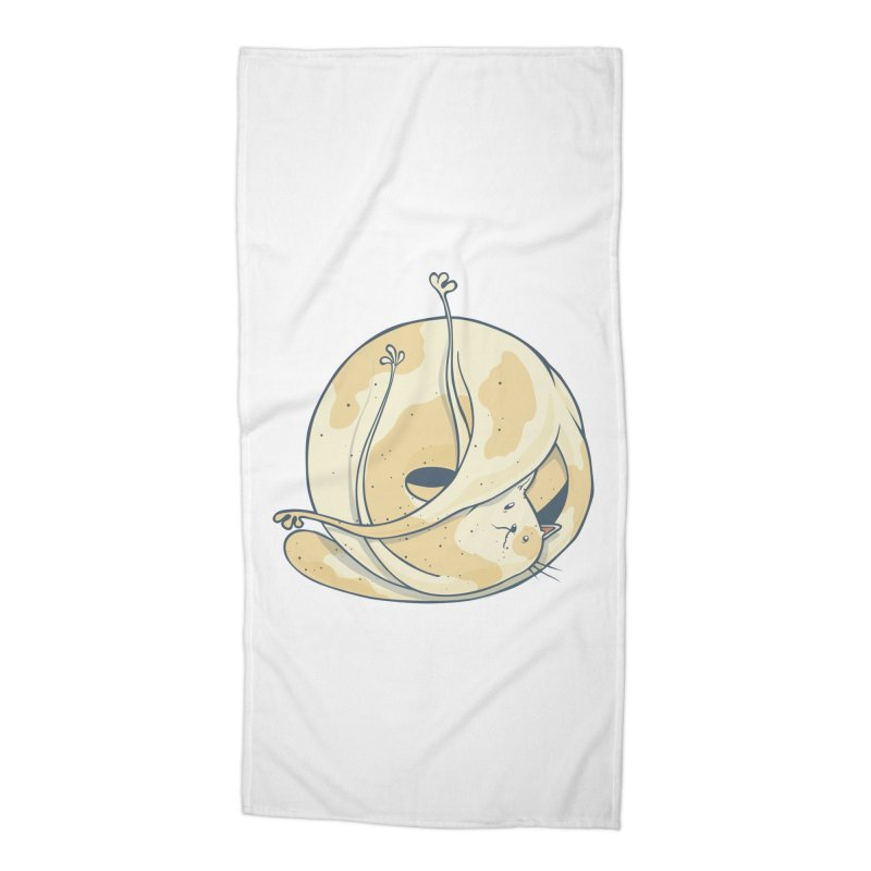 Ball of cat Accessories Beach Towel by Magnus Blomster