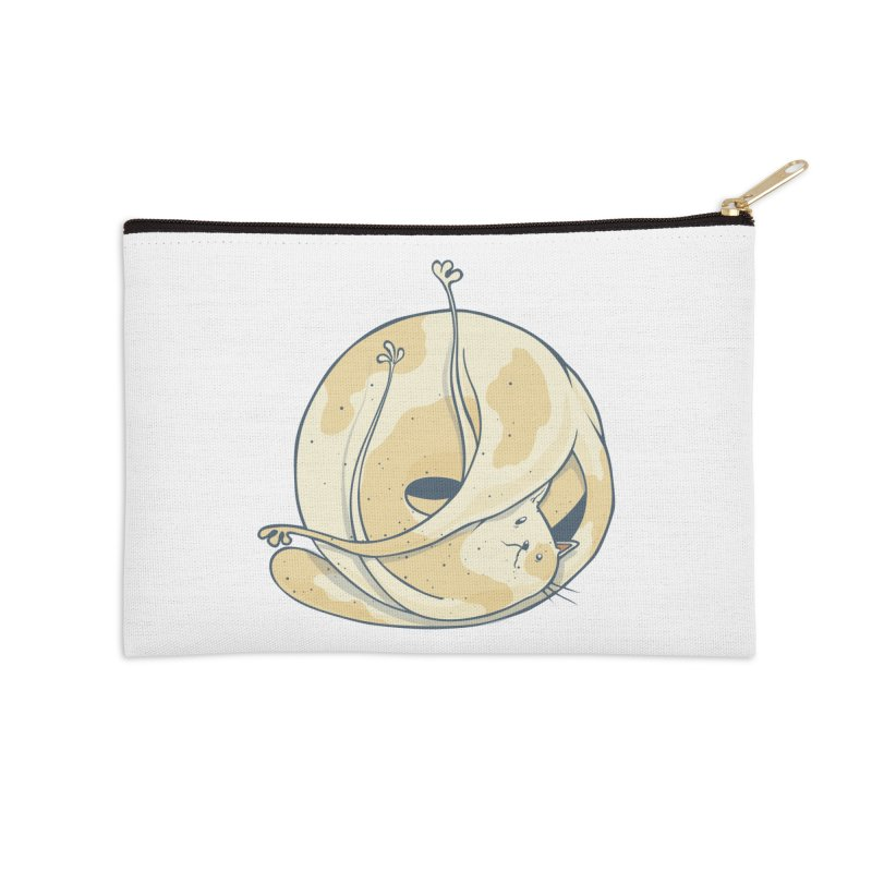 Ball of cat Accessories Zip Pouch by Magnus Blomster