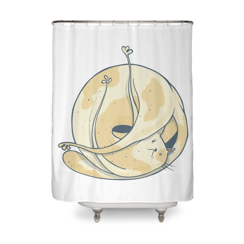 Ball of cat Home Shower Curtain by Magnus Blomster