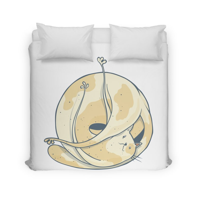 Ball of cat Home Duvet by Magnus Blomster
