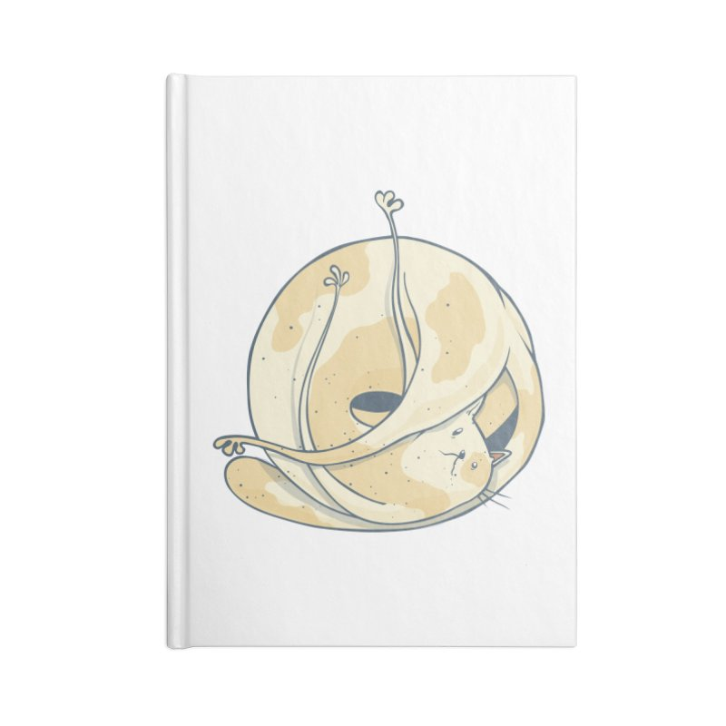 Ball of cat Accessories Lined Journal Notebook by Magnus Blomster