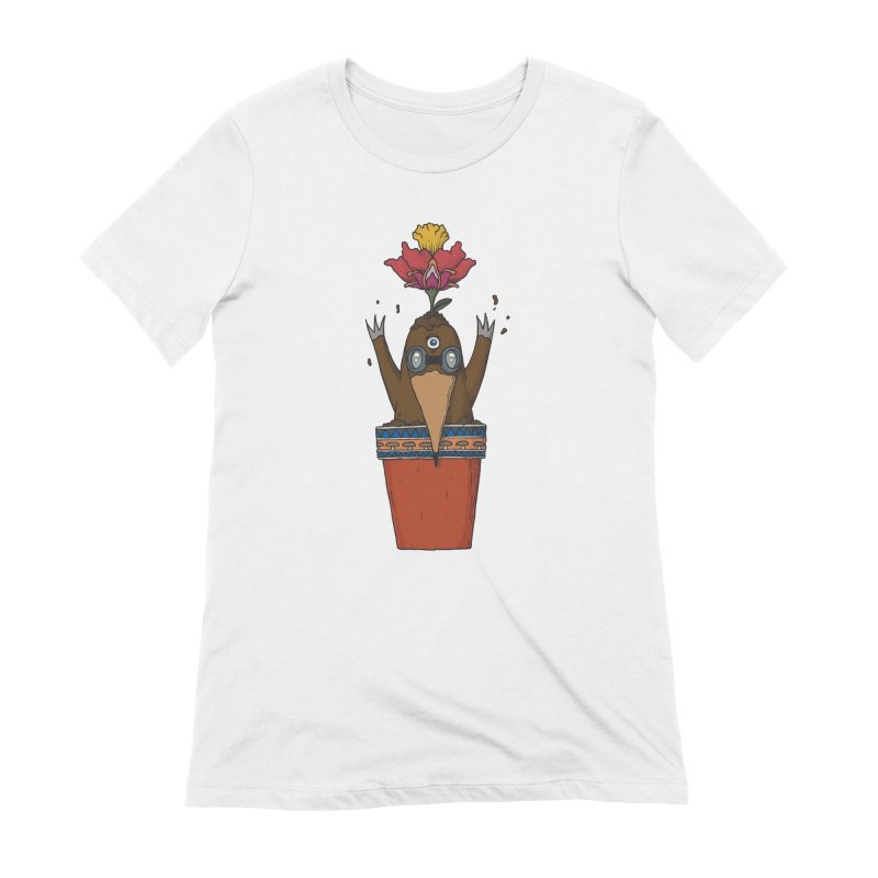 Flowepot mole Women's Extra Soft T-Shirt by Magnus Blomster