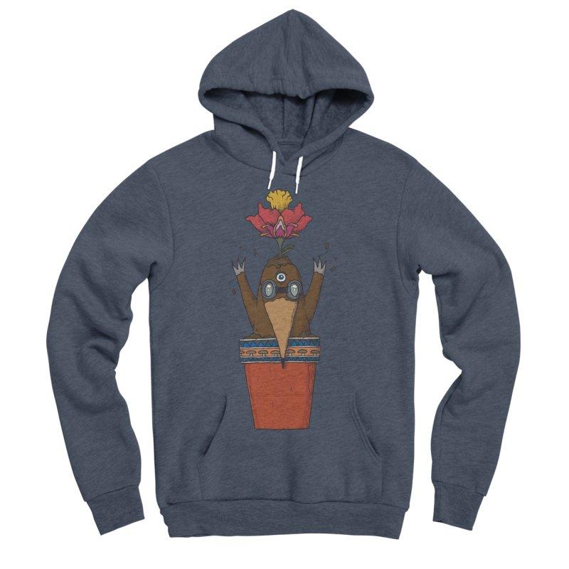Flowepot mole Women's Sponge Fleece Pullover Hoody by Magnus Blomster