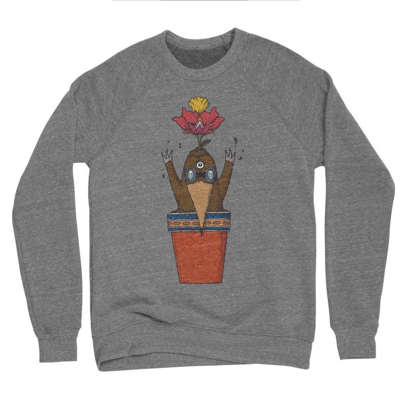 Flowepot mole Women's Sponge Fleece Sweatshirt by Magnus Blomster