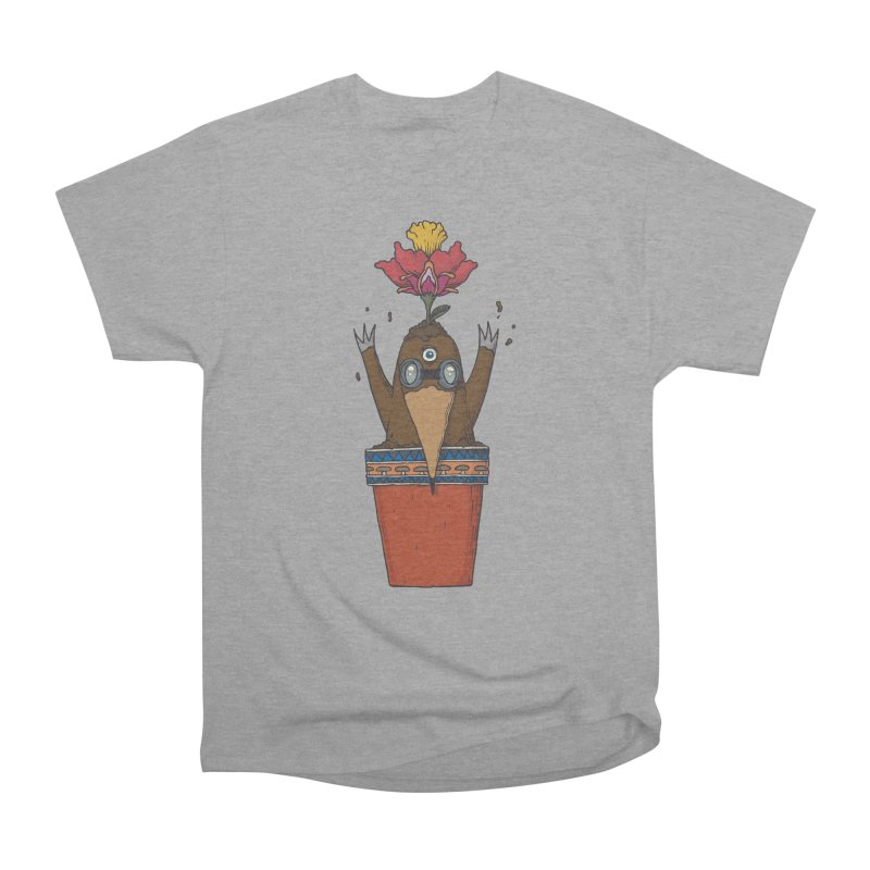 Flowepot mole Women's Heavyweight Unisex T-Shirt by Magnus Blomster