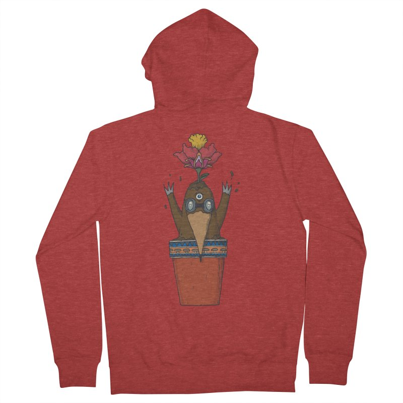 Flowepot mole Women's French Terry Zip-Up Hoody by Magnus Blomster