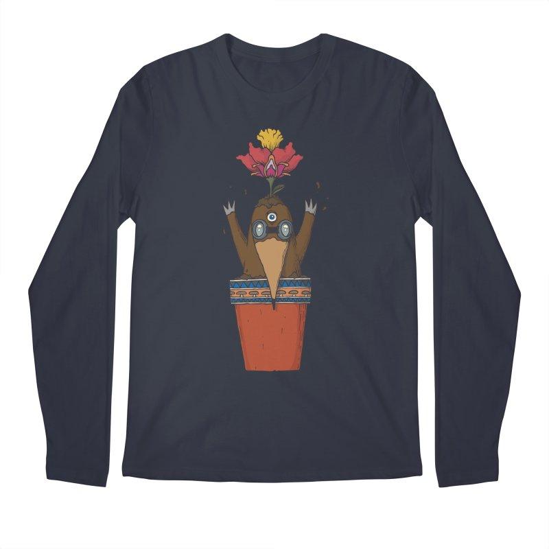 Flowepot mole Men's Regular Longsleeve T-Shirt by Magnus Blomster
