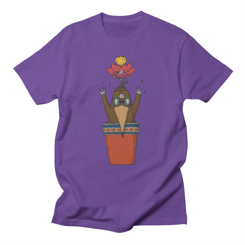 Flowepot mole Men's Regular T-Shirt by Magnus Blomster
