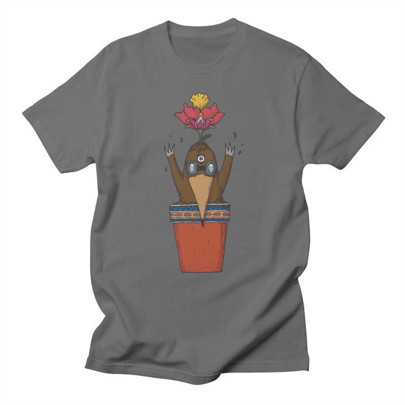 Flowepot mole Women's Regular Unisex T-Shirt by Magnus Blomster
