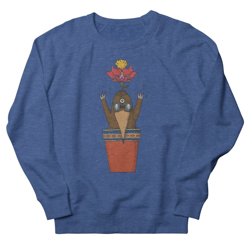 Flowepot mole Women's French Terry Sweatshirt by Magnus Blomster
