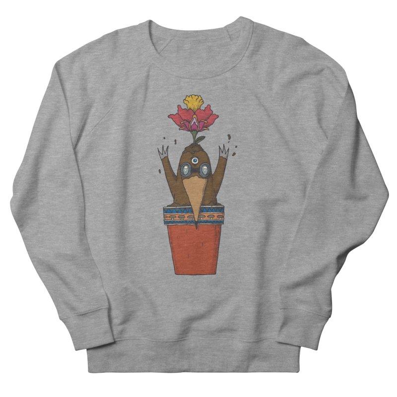 Flowepot mole Women's French Terry Sweatshirt by Magnus Blomster