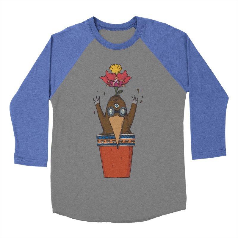 Flowepot mole Men's Baseball Triblend Longsleeve T-Shirt by Magnus Blomster