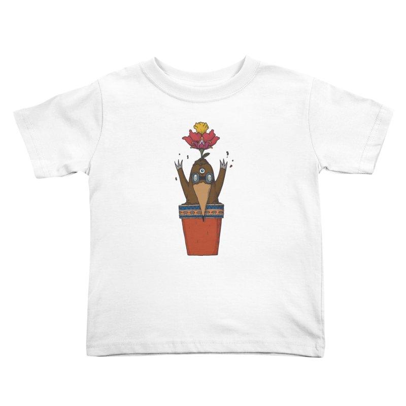 Flowepot mole Kids Toddler T-Shirt by Magnus Blomster