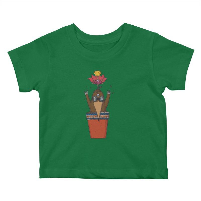 Flowepot mole Kids Baby T-Shirt by Magnus Blomster