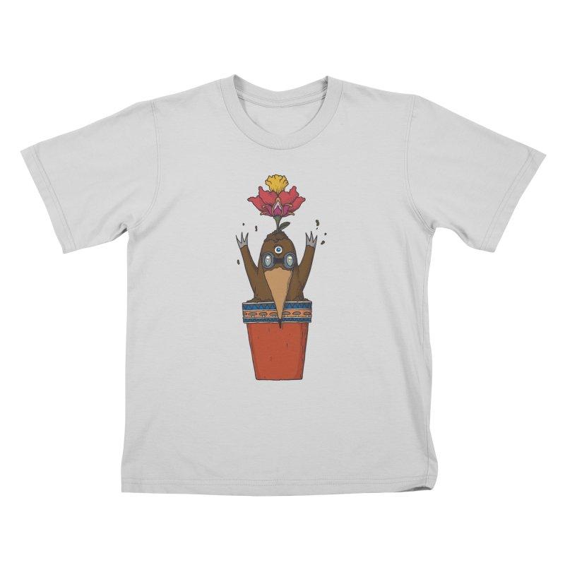 Flowepot mole Kids T-Shirt by Magnus Blomster