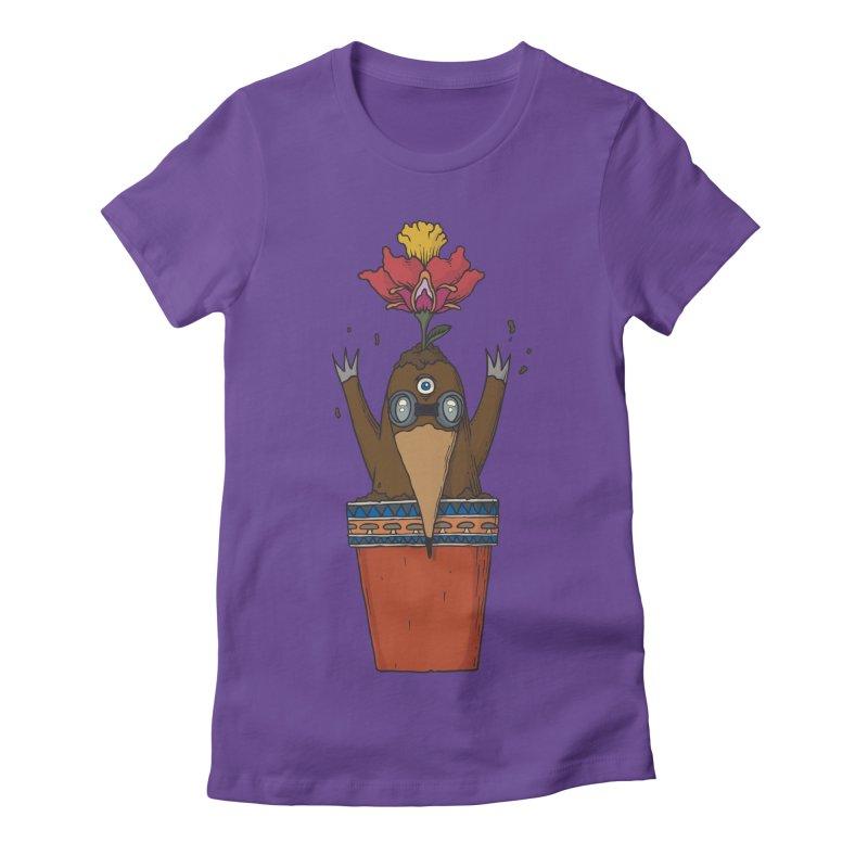 Flowepot mole Women's Fitted T-Shirt by Magnus Blomster