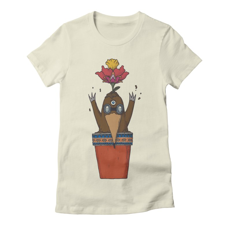 Flowepot mole Women's Fitted T-Shirt by Magnus Blomster