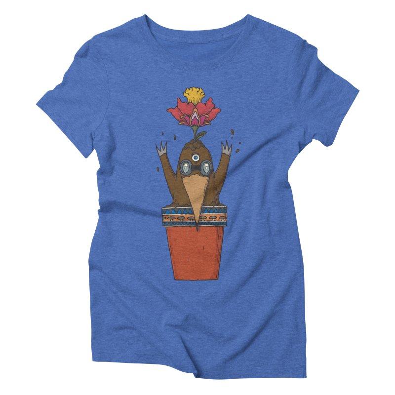 Flowepot mole Women's Triblend T-Shirt by Magnus Blomster