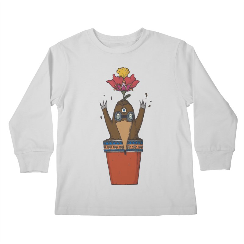 Flowepot mole Kids Longsleeve T-Shirt by Magnus Blomster