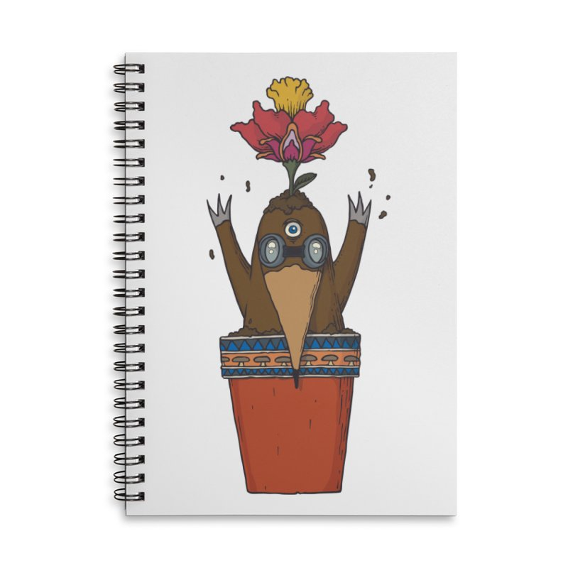 Flowepot mole Accessories Lined Spiral Notebook by Magnus Blomster
