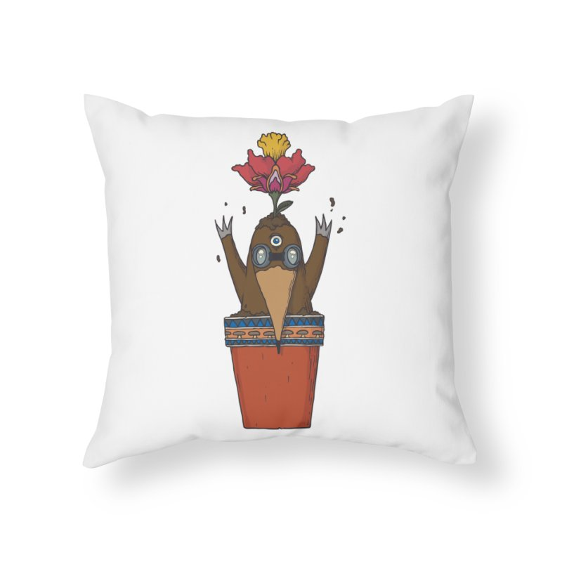Flowepot mole Home Throw Pillow by Magnus Blomster