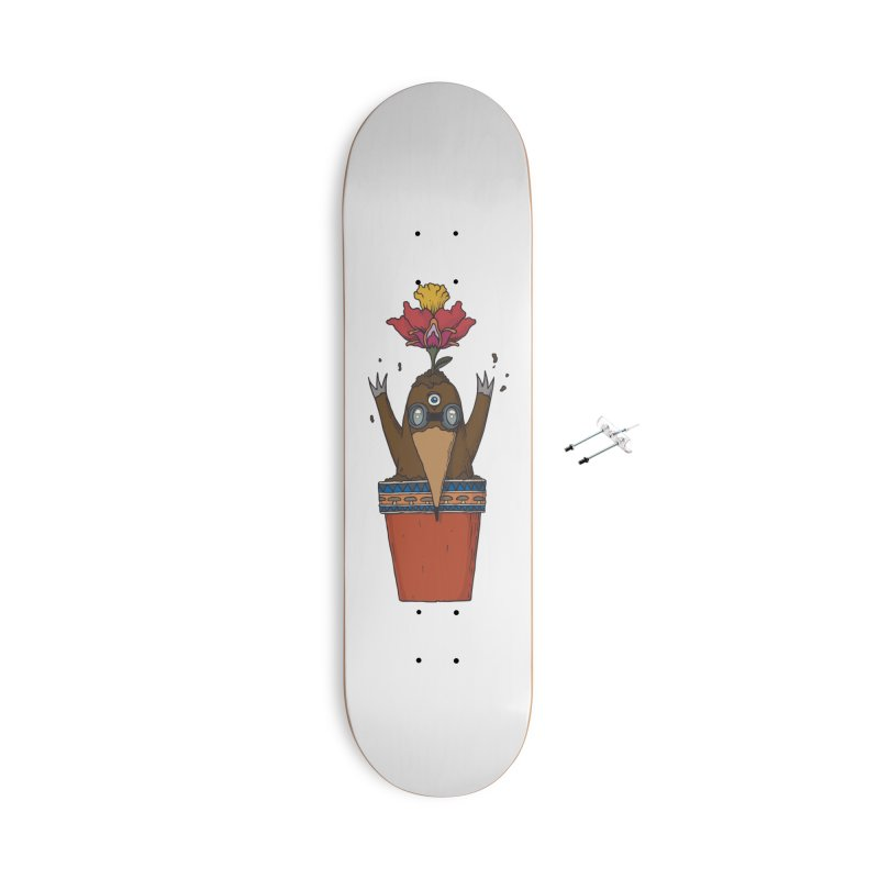 Flowepot mole Accessories With Hanging Hardware Skateboard by Magnus Blomster