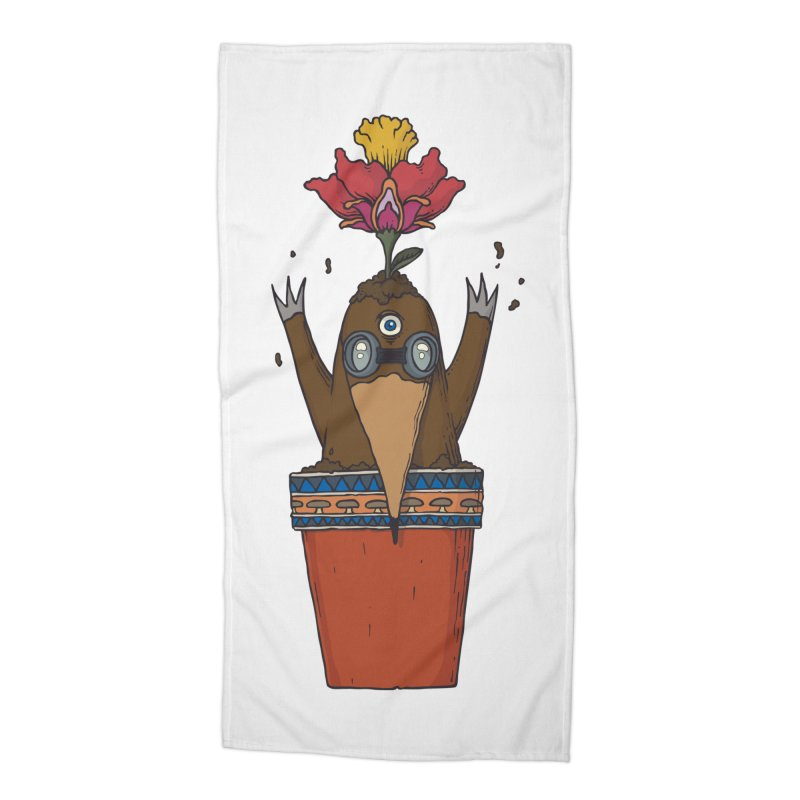 Flowepot mole Accessories Beach Towel by Magnus Blomster