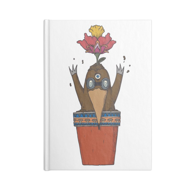 Flowepot mole Accessories Lined Journal Notebook by Magnus Blomster
