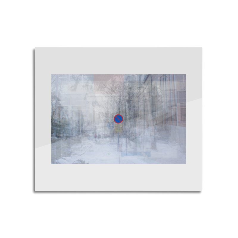 No Parking - composite photo art Home decor Mounted Acrylic Print by Art by Maija R