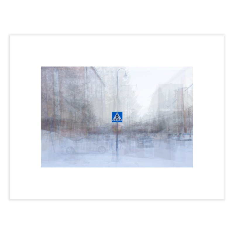 Pedestrian Crossing - composite photo art Home Fine Art Print by Art by Maija R