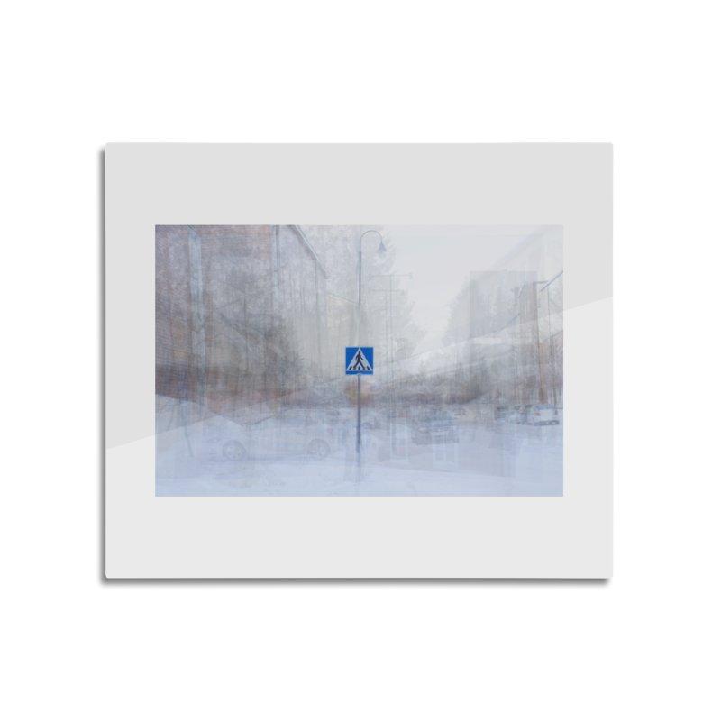 Pedestrian Crossing - composite photo art Home decor Mounted Acrylic Print by Art by Maija R