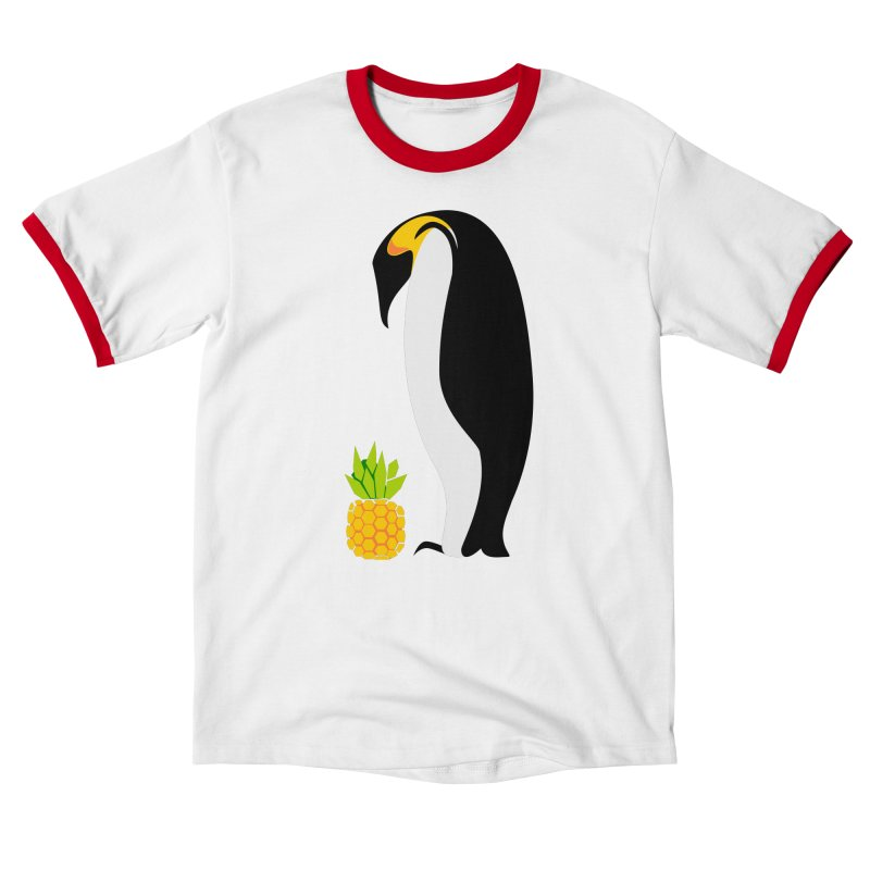 Confused Penguin Unisex T-Shirt by Art by Maija R