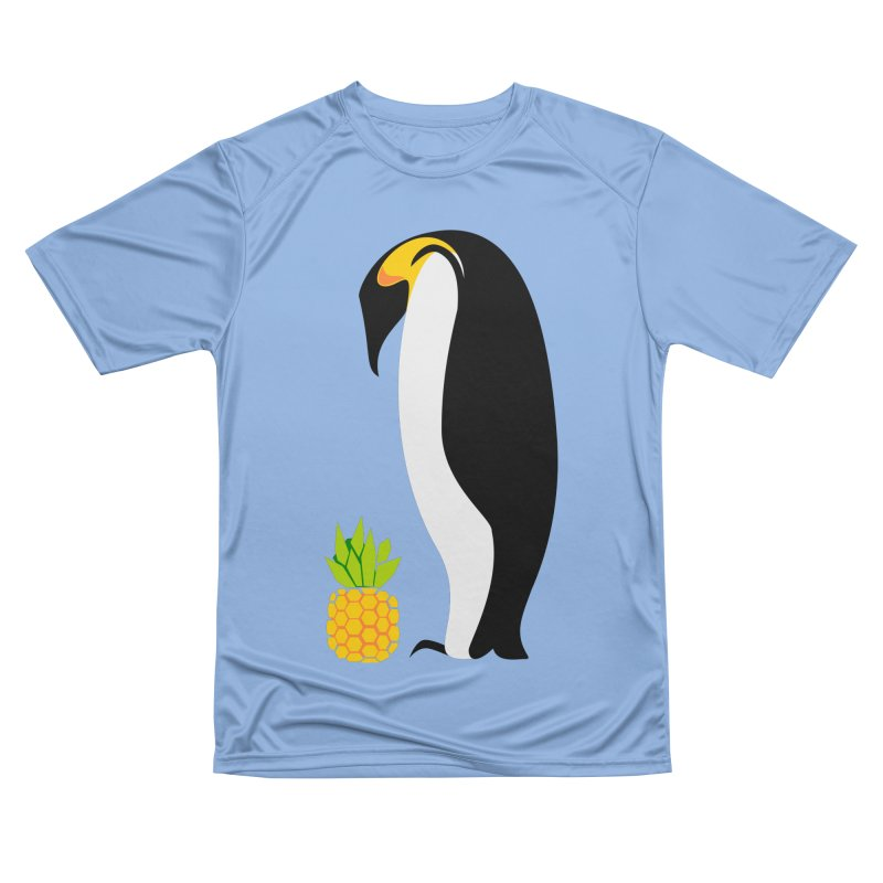 Confused Penguin Fitted T-Shirt by Art by Maija R