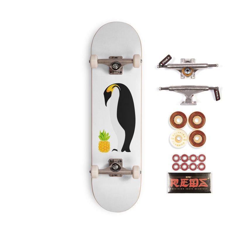 Confused Penguin Accessories Skateboard by Art by Maija R