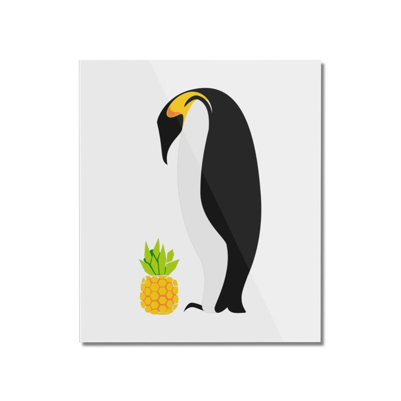 Confused Penguin Home decor Mounted Acrylic Print by Art by Maija R