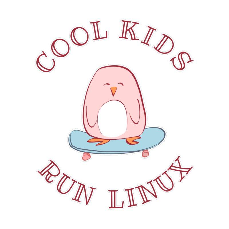 Cool Kids Run Linux (pink) Kids T-Shirt by Art by Maija R
