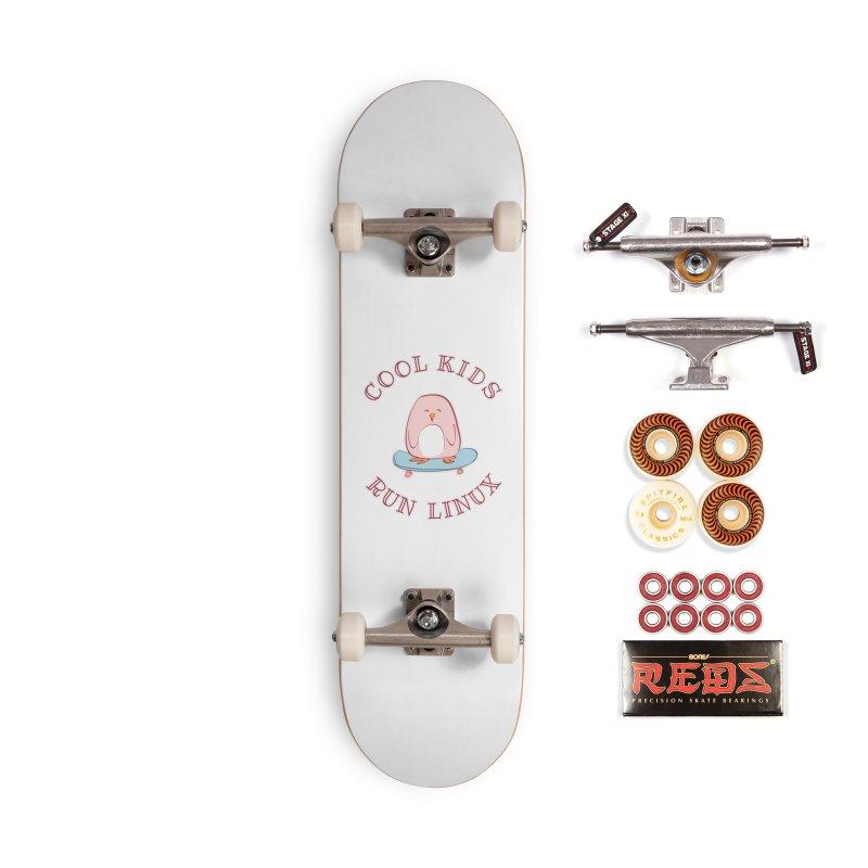 Cool Kids Run Linux (pink) Accessories Skateboard by Art by Maija R