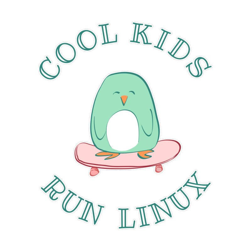 Cool Kids Run Linux (green) Kids T-Shirt by Art by Maija R