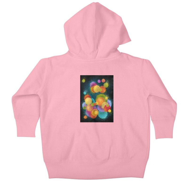 Colorful spheres Kids Baby Zip-Up Hoody by Art by Maija R