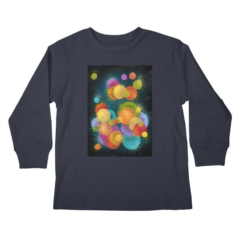 Colorful spheres Kids Longsleeve T-Shirt by Art by Maija R