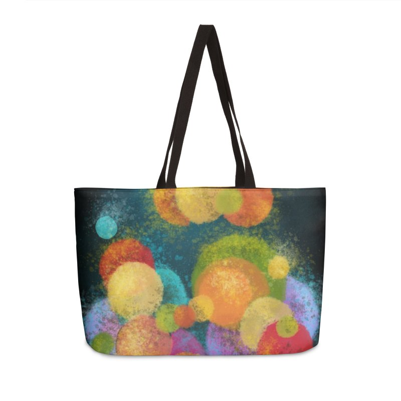 Colorful spheres Accessories Bag by Art by Maija R
