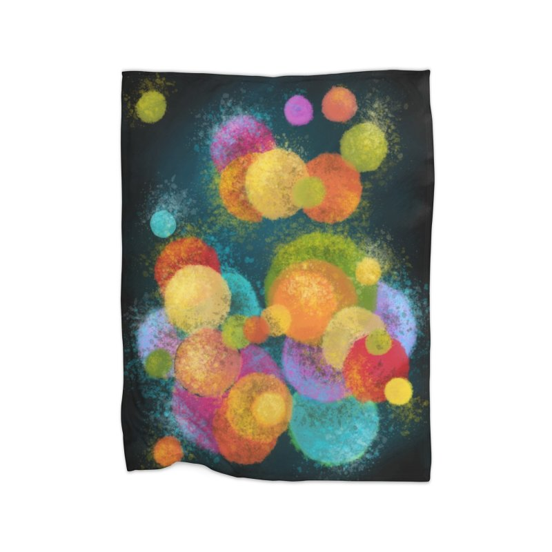 Colorful spheres Home decor Blanket by Art by Maija R