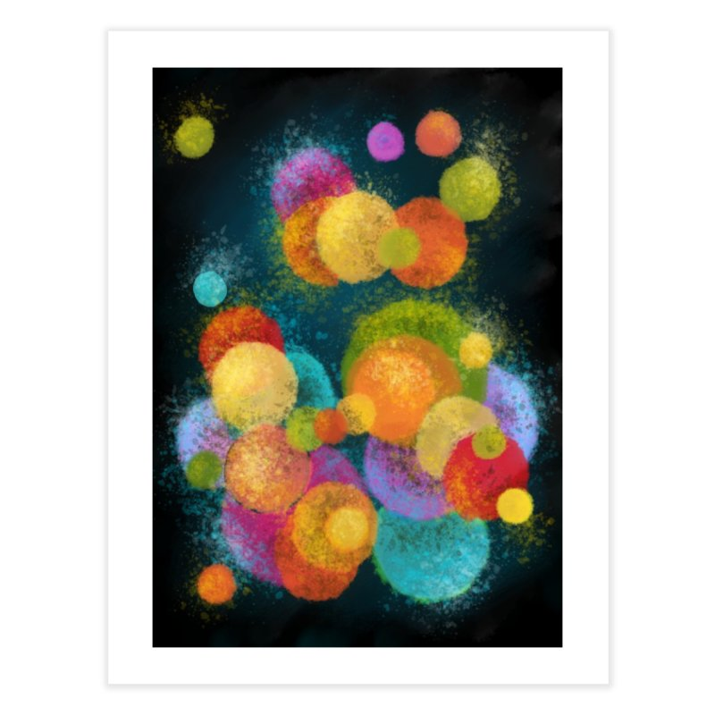 Colorful spheres Home decor Fine Art Print by Art by Maija R
