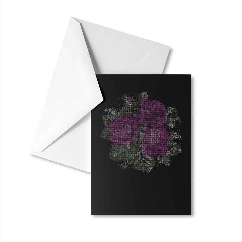 Vintage Mosaic Roses Accessories Greeting Card by Art by Maija R