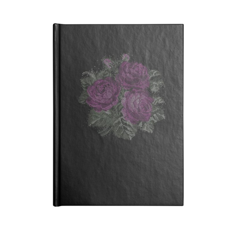Vintage Mosaic Roses Accessories Notebook by Art by Maija R