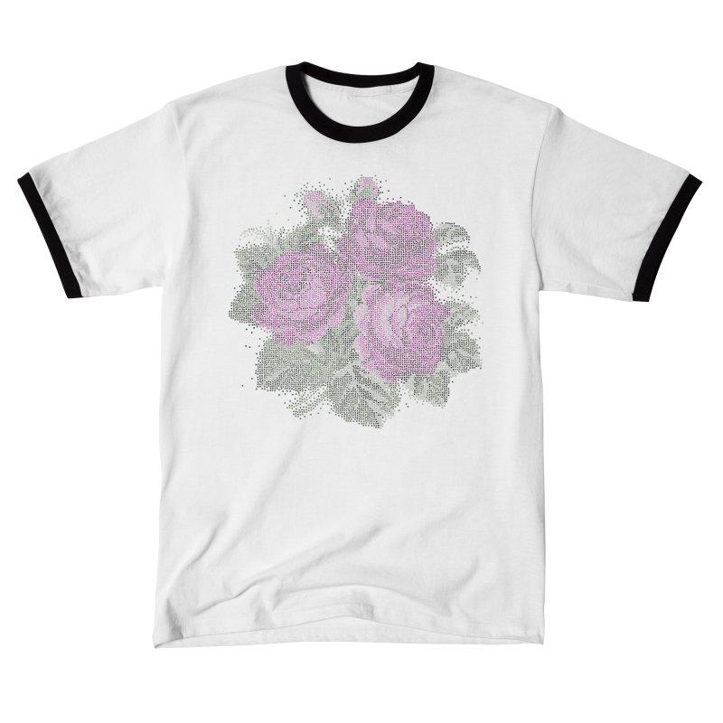 Vintage Mosaic Roses Unisex T-Shirt by Art by Maija R