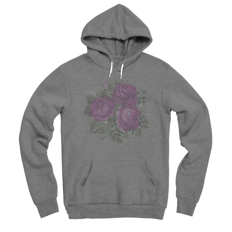Vintage Mosaic Roses Fitted Pullover Hoody by Art by Maija R