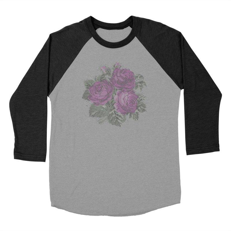 Vintage Mosaic Roses Unisex Longsleeve T-Shirt by Art by Maija R