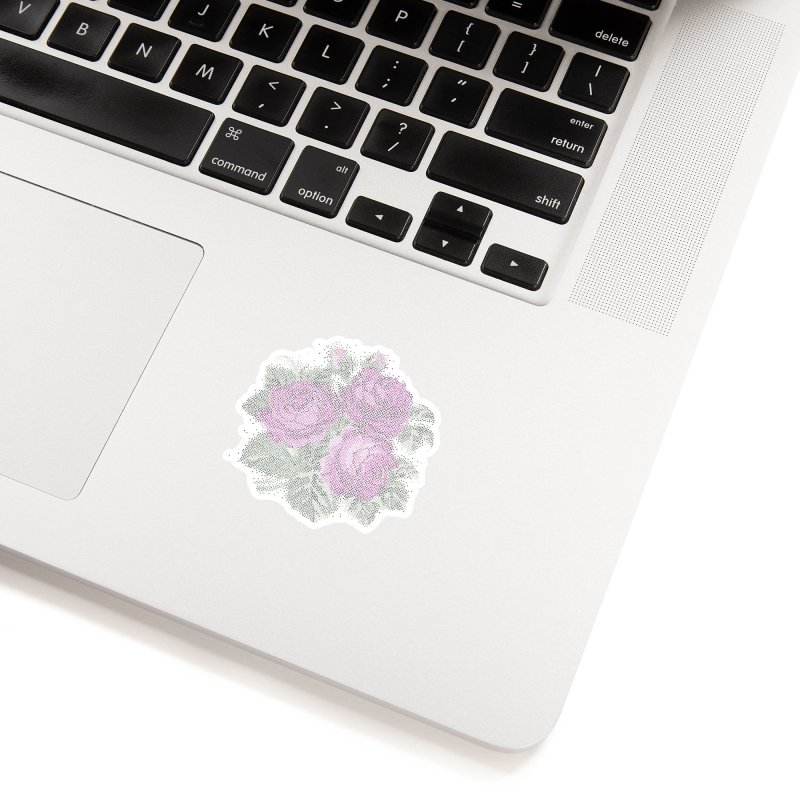 Vintage Mosaic Roses Accessories Sticker by Art by Maija R